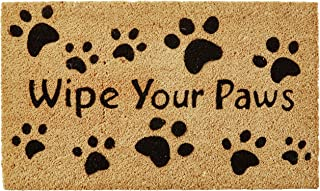 Kempf Wipe Your Paws Coco Doormat, Rubber Backed, 18 by 30 by 0.5-Inch