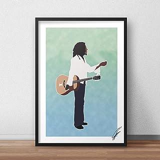 Ilustración inspirada en Bob Marley