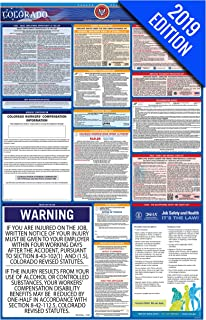 2019 Colorado Labor Law Poster – State, Federal, OSHA Compliant – Single Laminated Poster