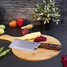 Multi-Functional Cleaver Knife - Royalford 6 inch full tang cleaver knife is extremely sharp, which is made of high-quality stainless steel so that it is suitable for cutting meat, fish, vegetable,