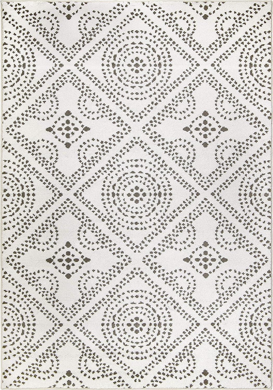 Orian Rugs Saltillo Area Rug Financial sales sale Gray 13' White 9' x Max 66% OFF