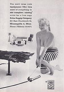 1958 Original Magazine Print Ad Kelco Fire EMS First Aid Supply