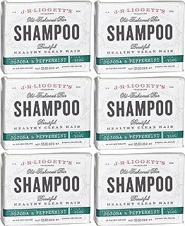 J.R. Liggett's Jojoba and Peppermint Shampoo Bar 3.5 Ounces (Pack of 6)