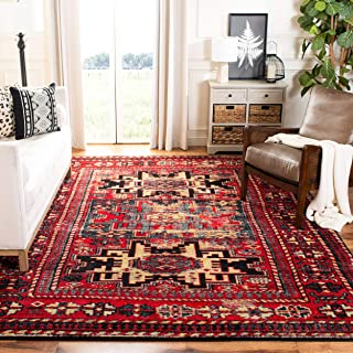 Safavieh Vintage Hamadan Collection VTH213A Antiqued Red and Multi Area Rug (6'7