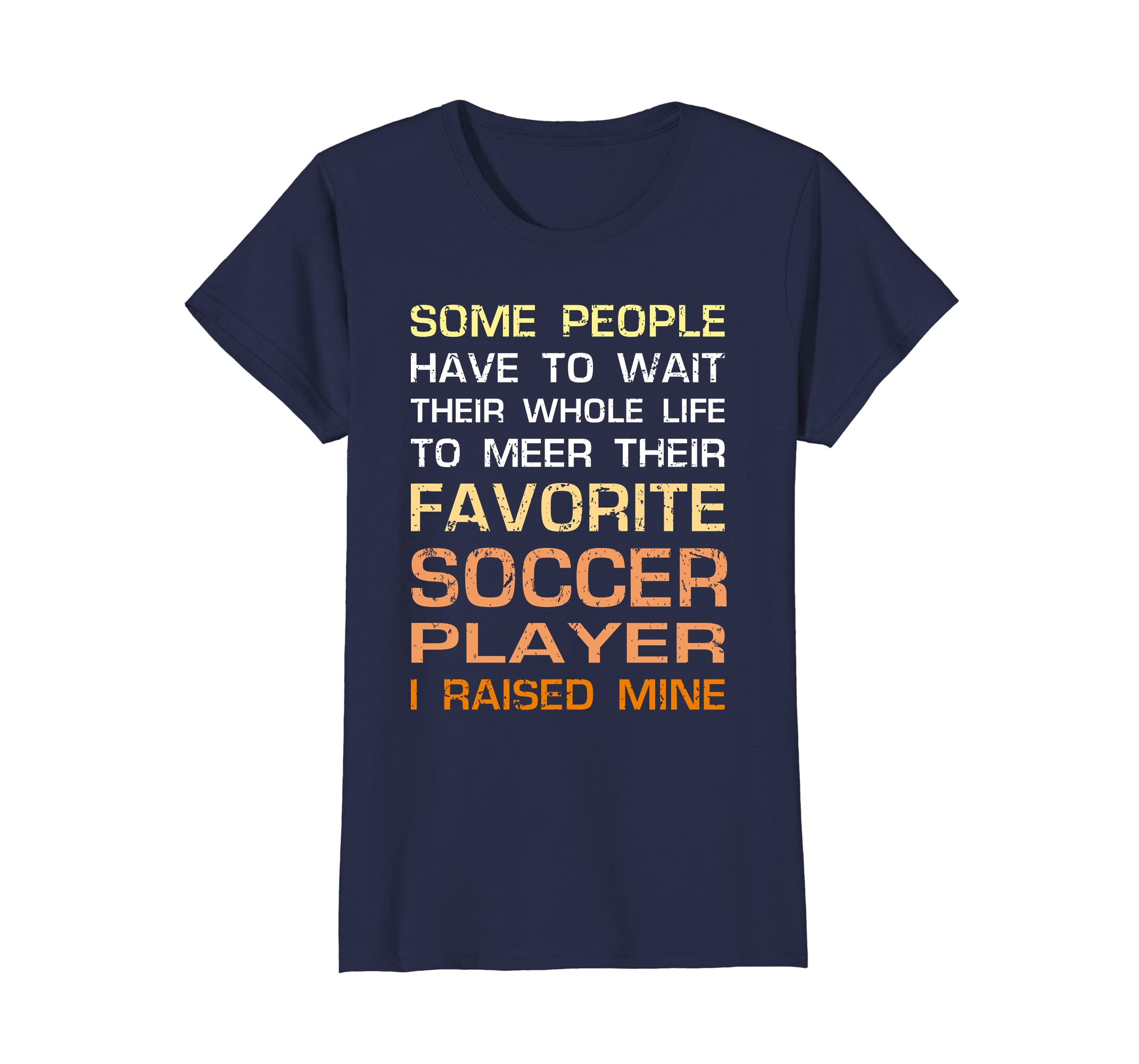 b293ef4f7 Amazon.com  Favorite Soccer Player Mom Dad Gift I Raised Mine T-Shirt   Clothing