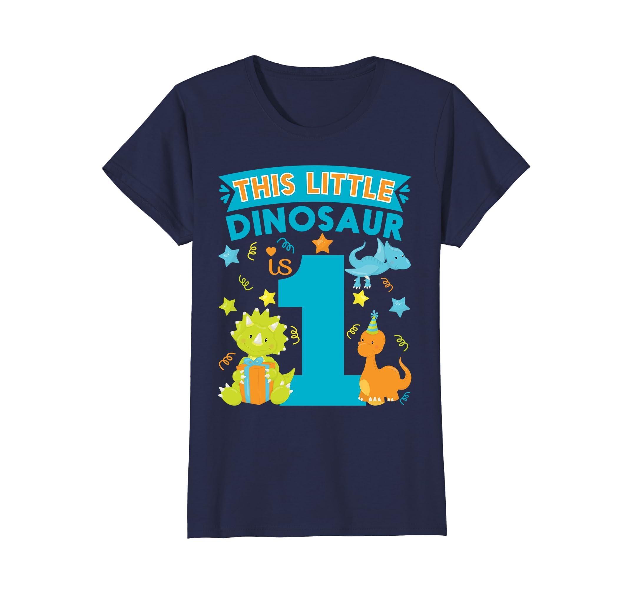 654f7623 Amazon.com: This Dinosaur Is 1 Year Old Dinosaur 1st Birthday Kids Shirt:  Clothing