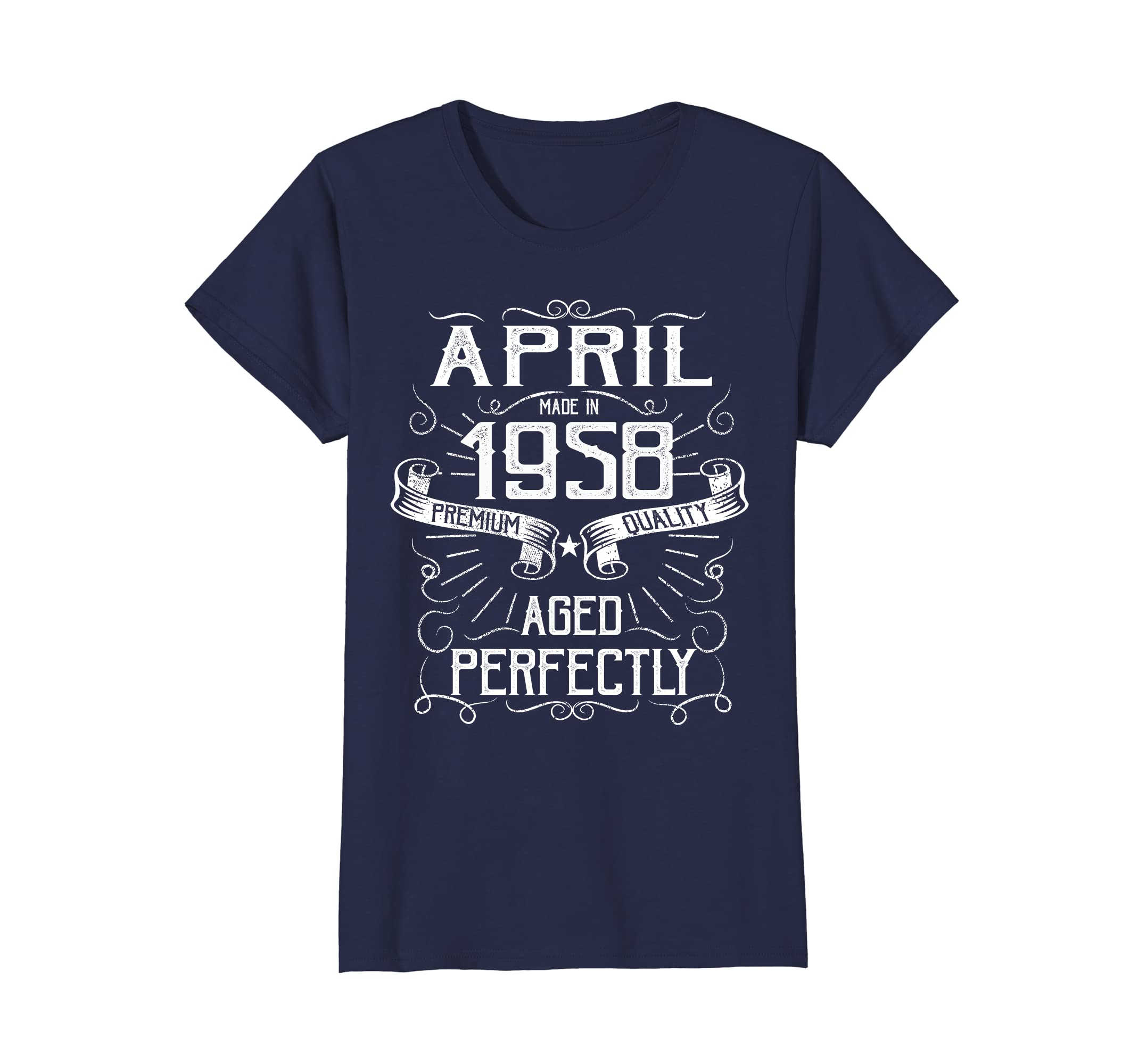 f0088d8cc Amazon.com: Vintage April Made in 1958 T-Shirt 60th Birthday Gift Tee:  Clothing