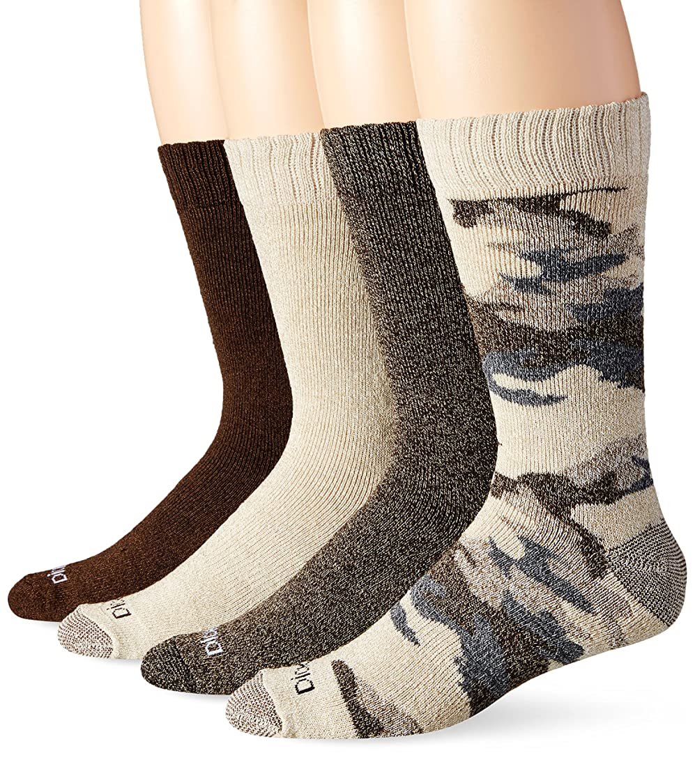 Dickies Men's 4 Pack Camo and Marl All Season Moisture Control Crew Socks okzb794470664223