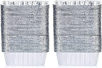 DOBI (100 Pack) Mini Loaf Baking Pans - Disposable Aluminum Foil 1lb Small Bread Tins, 6