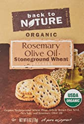 Back to Nature Organic Rosemary and Olive Oil Crackers, 6 Ounce