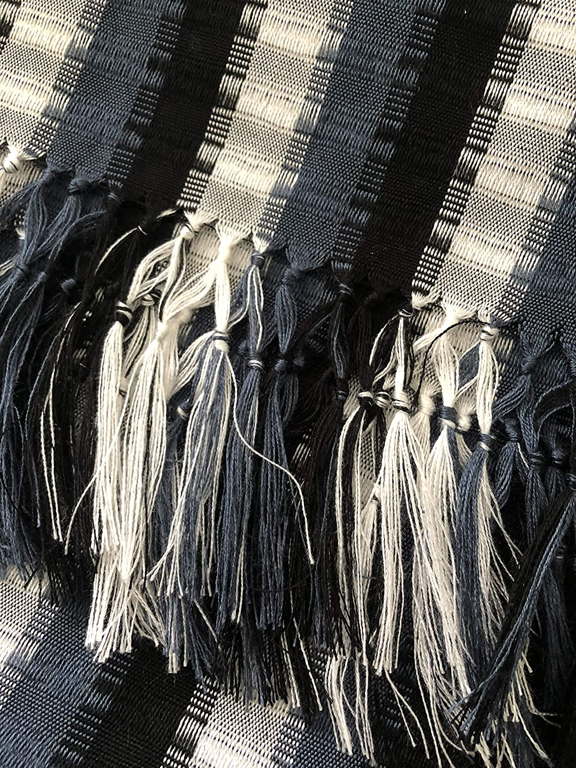Mayan Arts Cotton Scarves, Handmade in Guatemala, Cultural Element Fashion Scarf Green, Brown, and Black
