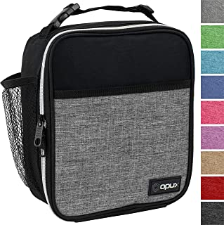 OPUX Premium Insulated Lunch Box   Soft Leakproof School Lunch Bag for Kids, Boys, Girls   Durable Reusable Work Lunch Pail Cooler for Adult Men, Women, Office – Fits 6 Cans (Heather Grey)