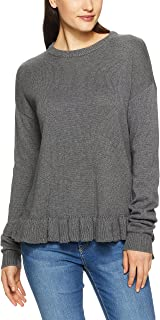 French Connection Women's Speckle Ruffle Hem Knit