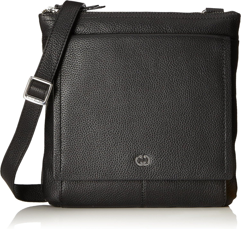 Gerry Weber Aragonien I Shoulderbag Lvz, Women's CrossBody Bag, black (Black), 4x28.5x27.5 cm (B x H T)