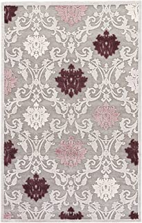 Jaipur Living Glamourous Damask Gray/Silver Area Rug (5' X 7'6