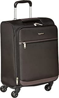 AmazonBasics Softside Trolley Luggage - 21-inch, Carry-on/Cabin Size, Black