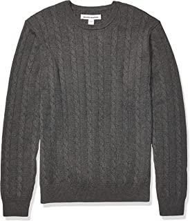 Men's Crewneck Cable Cotton Sweater