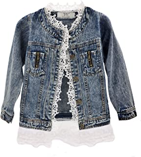 Kids Denim Jacket Boys Girls Jean Jacket Toddler Coat Outerwear Gift