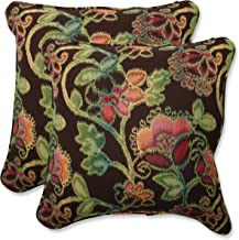 Pillow Perfect Indoor/Outdoor 18.5-inch Throw Pillow (Set of 2) with Sunbrella Vagabond Paradise Fabric, 18.5 in. L X 18.5 in. W X 5 in. D