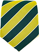 green and yellow school tie