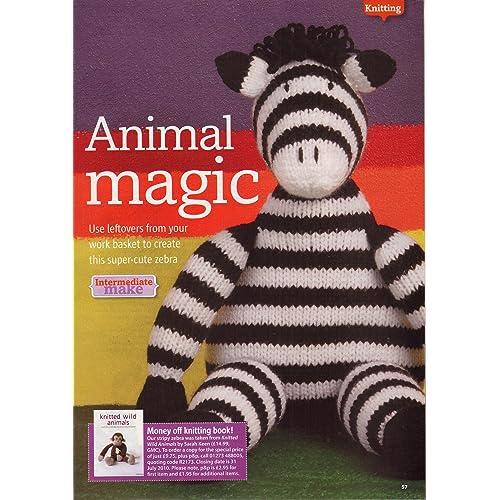 4bcc18cd5386d4 Animal Magic Stripy Toy Zebra Knitting Pattern: Measurements 24cm 9.5