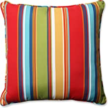 Pillow Perfect Outdoor/Indoor Westport Garden Floor Pillow, 60cm , Striped, Multicoloured