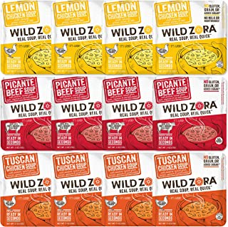 Wild Zora - Real Soup, Real Quick - Variety (12-pack) Includes 4 each, of 3 instant soup flavors
