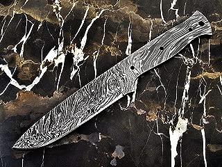 "ColdLand Knives   10"" Custom Handmade Damascus Steel Bushcraft Blank Blade Knife Making Supplies SB85"