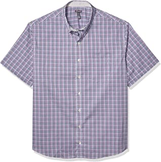 Men's Big and Tall Flex Short Sleeve Button Down Check Shirt