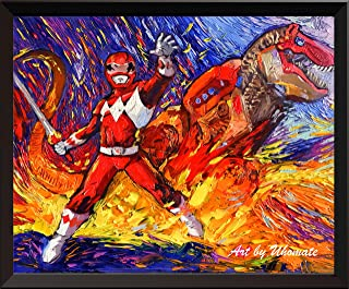 Uhomate Superhero Mighty Morphin Power Rangers Wall Decor Vincent Van Gogh Starry Night Posters Home Canvas Wall Art Print Anniversary Gifts Baby Gift Nursery Decor Living Room Wall Decor A080 (8X10)
