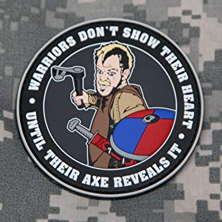 NEO Tactical Gear Vikings Floki Warriors Don't Show Their Heart Until Their Axe Reveals It 3D PVC Morale Patch - Crossfit Patch - Rubber Morale Patch, Hook Backed