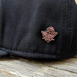 Mushroom Patch Solid Wood Hatpin or Lapel Pin