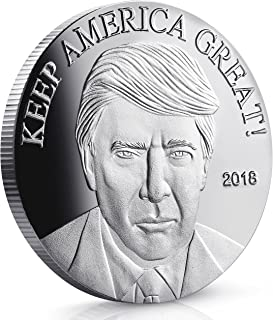 Keep America Great 2018 Trump Coin - Silver Plated