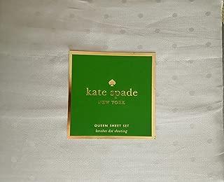 Kate Spade 4pcs Queen Sheet Set Dove Gray - Light Grey Larabee Dot Sheeting