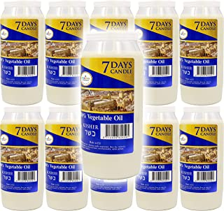 The Dreidel Company 7 Day Memorial Candle Yahrzeit Candle Yiskor Candle 100% Vegetable Oil Wax in Plastic Jar Container, Kosher 5.75