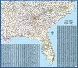 Southeast US Laminated Wall Map (42