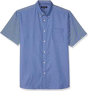 Blazer Men's Alex Short Sleeve Check Shirt, Navy, XXL