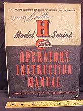 Cummins Diesel Engine H Operation Maintenance Manual