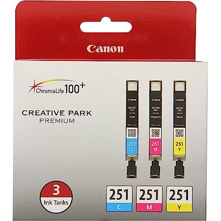 Canon CLI-251 3 Color Multi Pack Compatible to MG6320, iP7220 & MG5420, MX922, MG7120, MG6420, MG5520, iX6820, iP8720, MG7520, MG6620, MG5620
