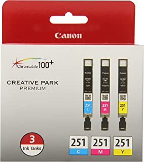Canon CLI-251 3 Color Multi Pack Compatible to MG6320, iP7220 & MG5420, MX922, MG7120, MG6420, MG5520, iX6820, iP8720, MG7...