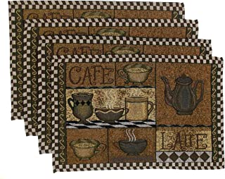 Hickoryville Placemat Bundle - Set of 4 Coffee Themed Placemats 13