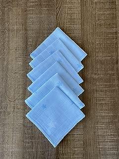 6'lı Müslin Ağız Mendili (Mavi)