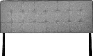 AmazonBasics Cabecera tapizada con imitación de lino, gris