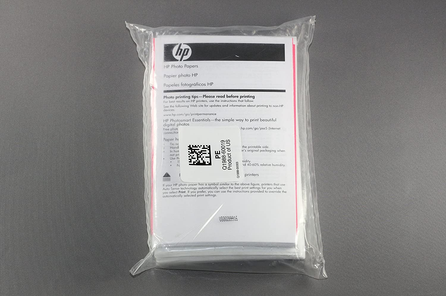 100 Sheets Fixed price for sale 4x6 Max 47% OFF HP Q1988 Papers Premium Glossy Photo