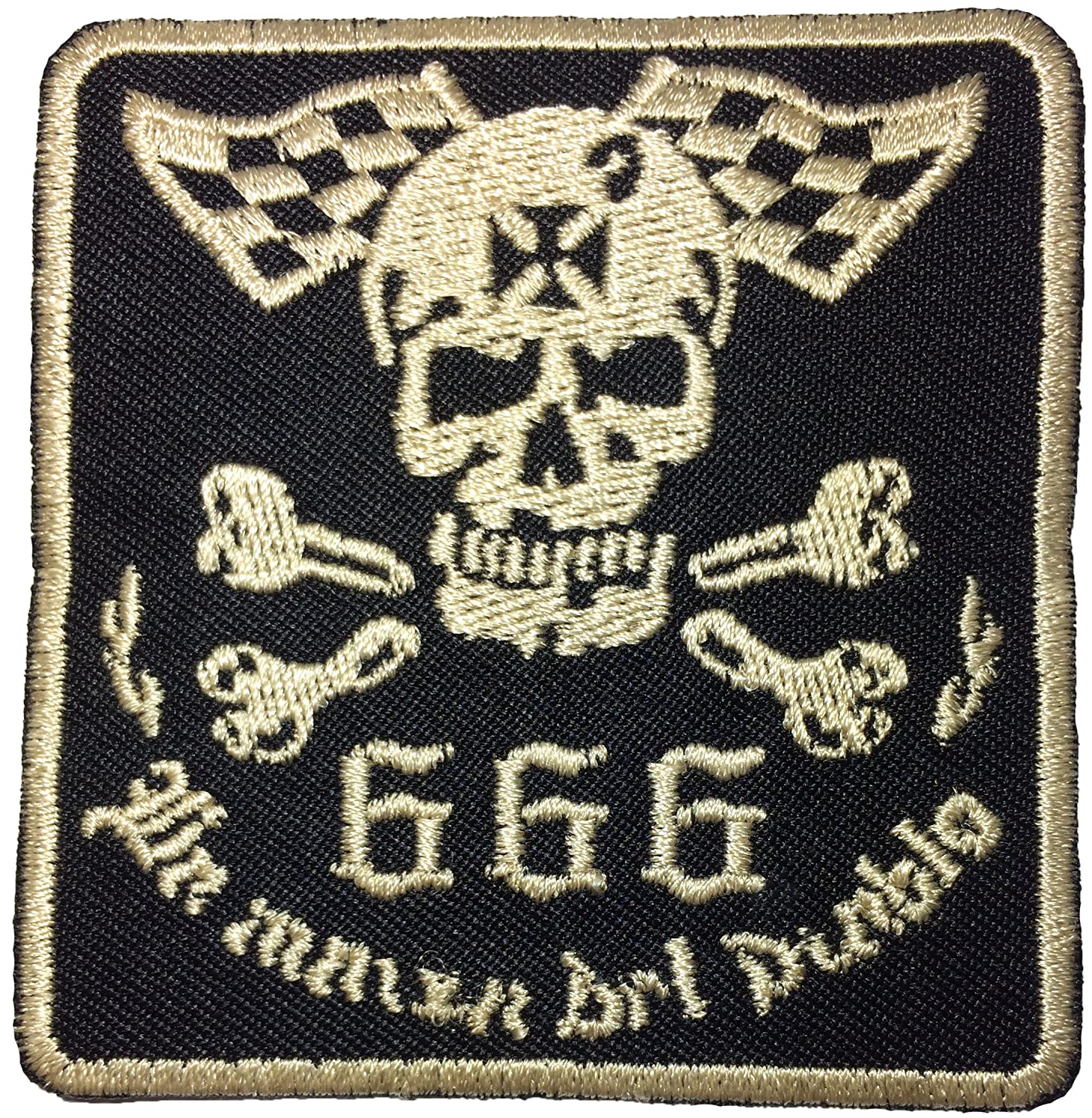 Papapatch Number Evil Satan Checkered Flag Skull Cross Bone Sew on Iron on Embroidered Applique Patch (IRON-NUMBER-SATAN)