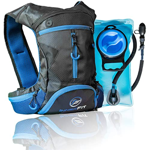 InnerFit Hydration Backpack and Water Bladder, Durable Camel Backpack Hydration Pack - Running, Hiking