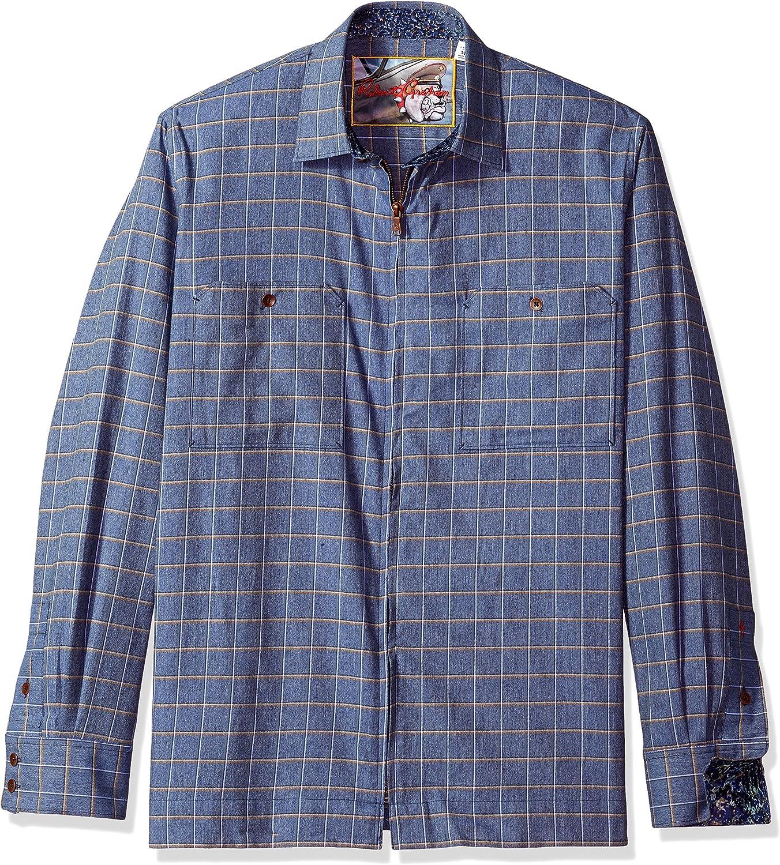 Robert Graham Mens RF171014CF Auburn Long Sleeve Shirt Jacket Long Sleeve Shirt