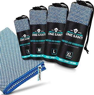 ONE SANTI Reisehandtuch - Unsere Bambus Handtücher als Top Outdoor Handtuch - Reisehandtuch schnelltrocknend & kompakt - T...