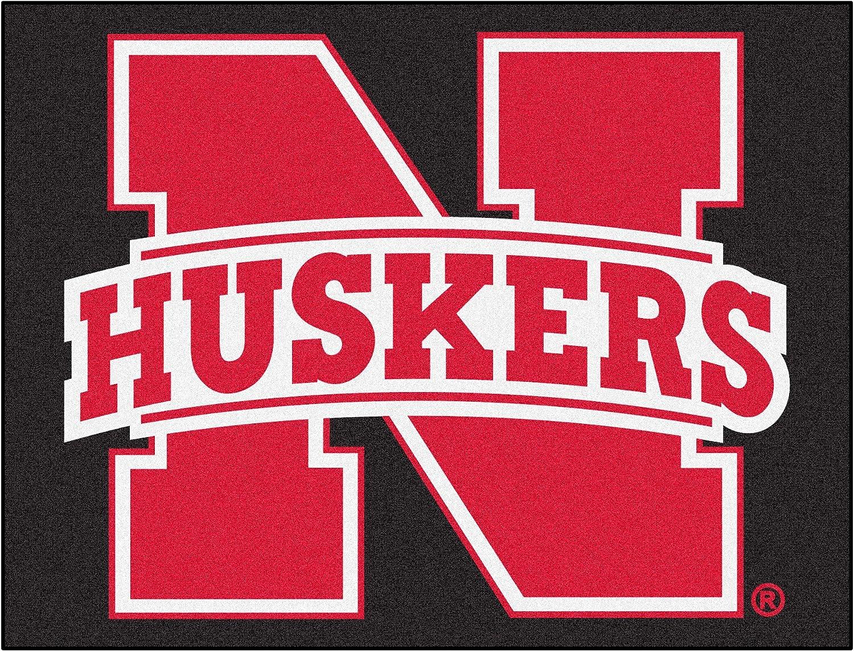 FANMATS NCAA University of Nebraska Cornhuskers Nylon Face AllStar Rug