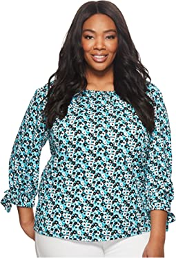 MICHAEL Michael Kors - Plus Size Carnation Wide Sleeve Top